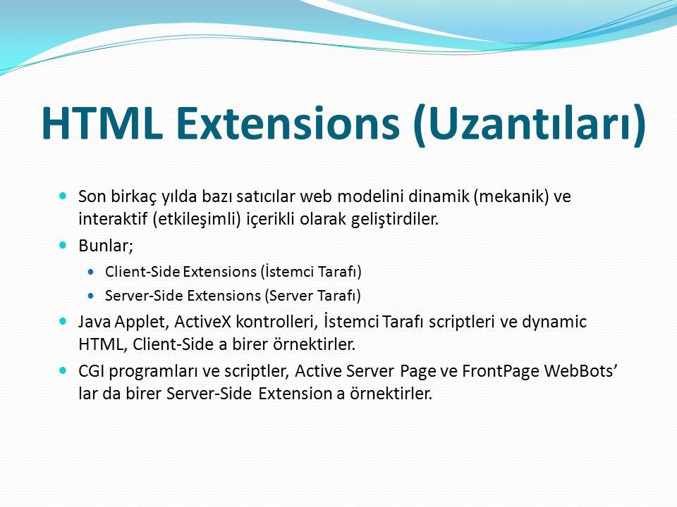 HTML Extensions (Uzantıları)