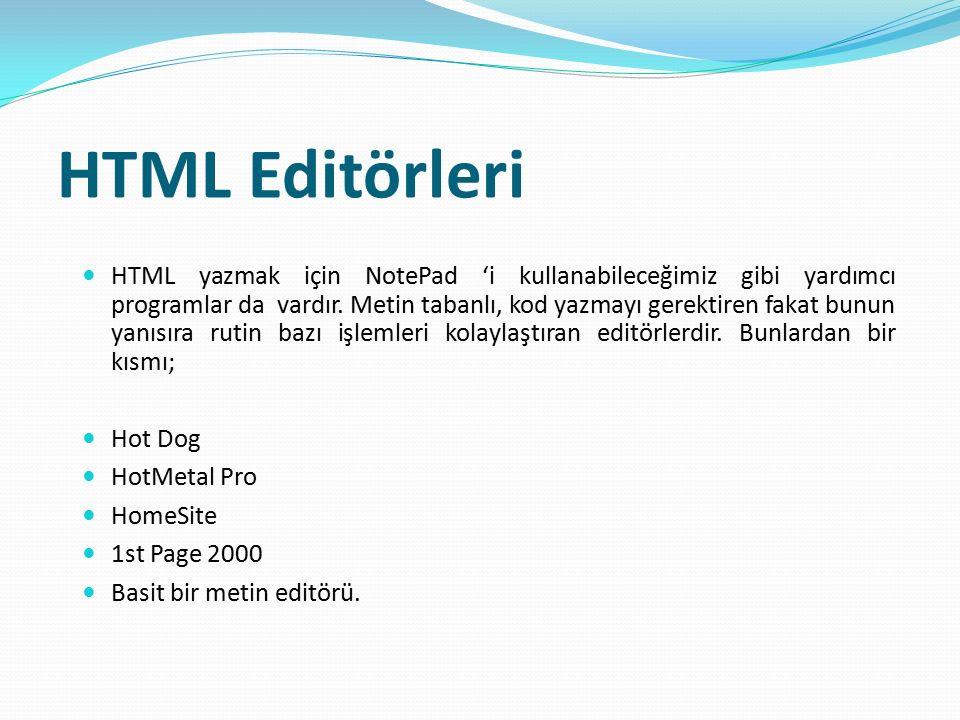 HTML Editörleri