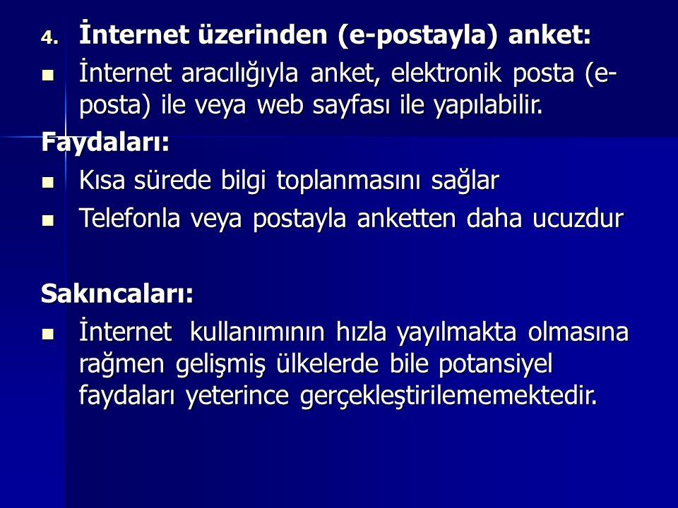 İnternet üzerinden (e-postayla) anket: