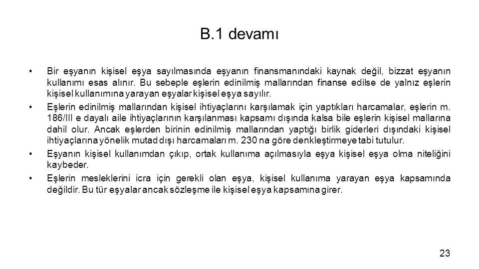 B.1 devamı