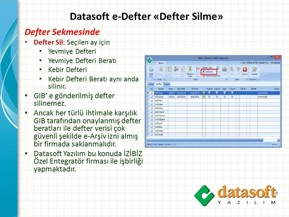 Datasoft e-Defter «Defter Silme»