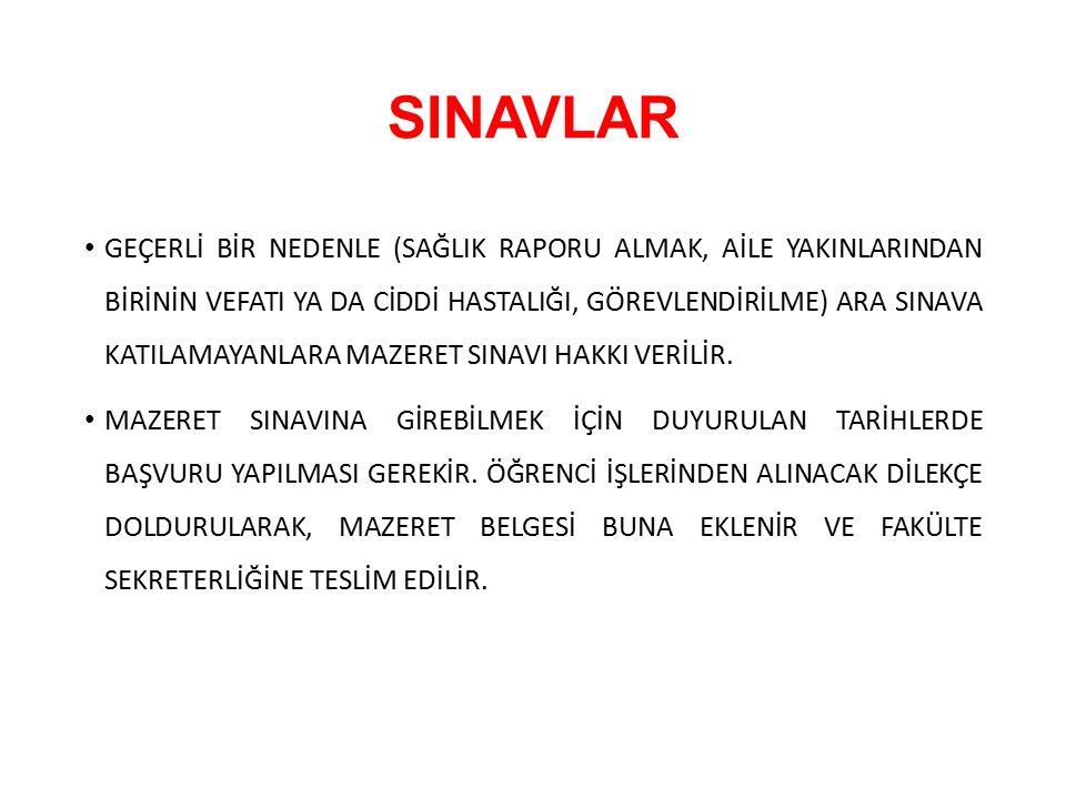 SINAVLAR