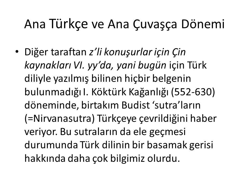 Ana Türkçe ve Ana Çuvaşça Dönemi