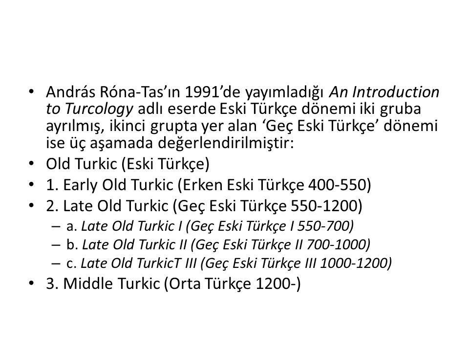 Old Turkic (Eski Türkçe)