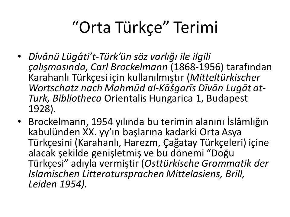 Orta Türkçe Terimi
