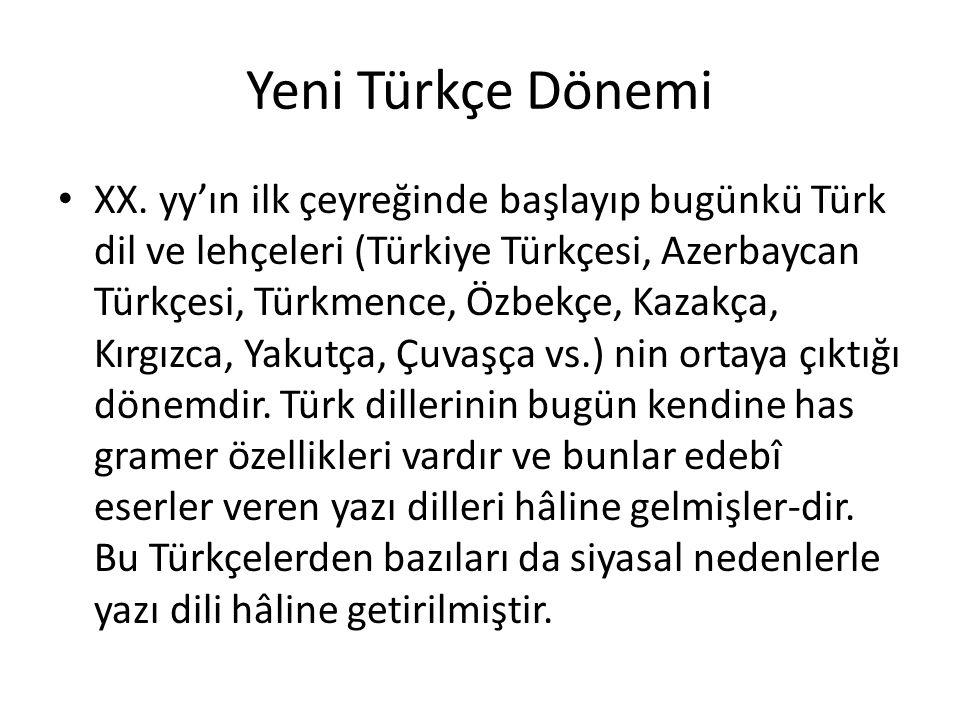 Yeni Türkçe Dönemi