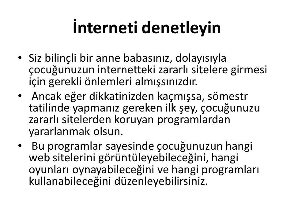 İnterneti denetleyin