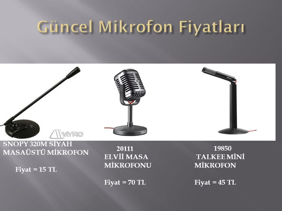 Güncel Mikrofon Fiyatları