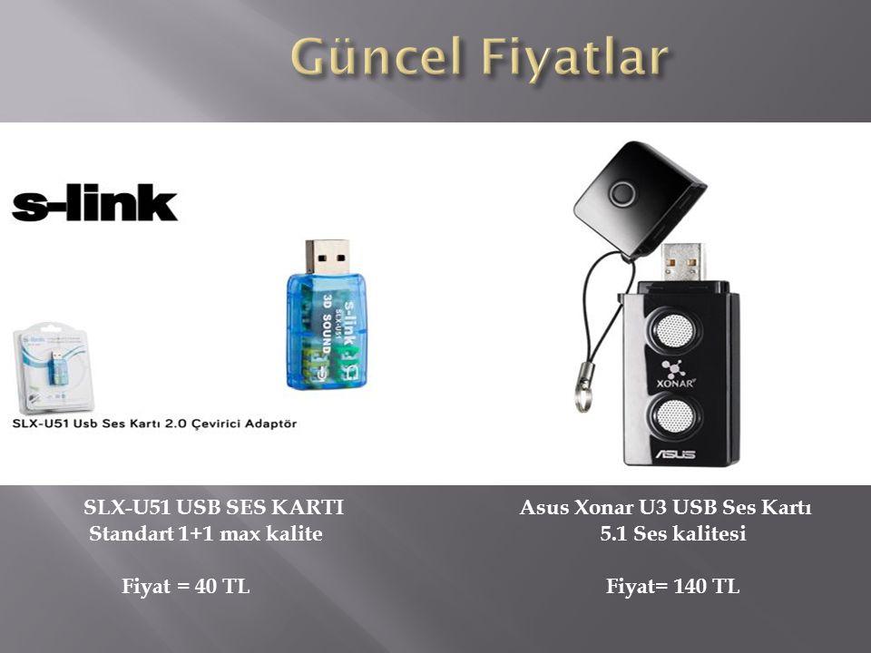 Güncel Fiyatlar SLX-U51 USB SES KARTI Standart 1+1 max kalite