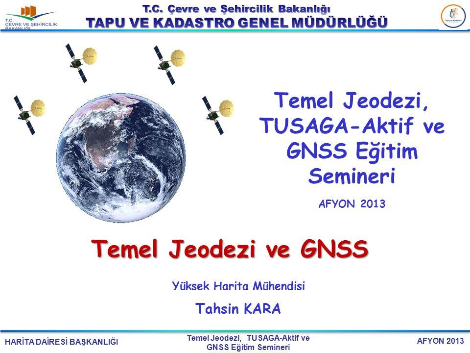 EK-2 SUNUM BAŞLIKLARI 25.04.2017. Temel Jeodezi, TUSAGA-Aktif ve GNSS Eğitim Semineri. AFYON 2013.