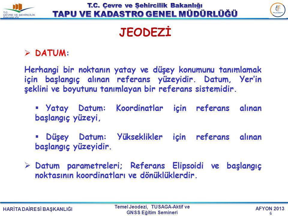 JEODEZİ DATUM: