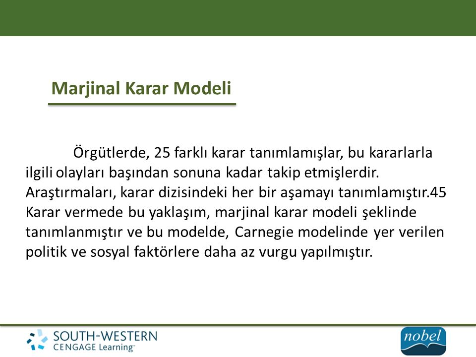 Marjinal Karar Modeli