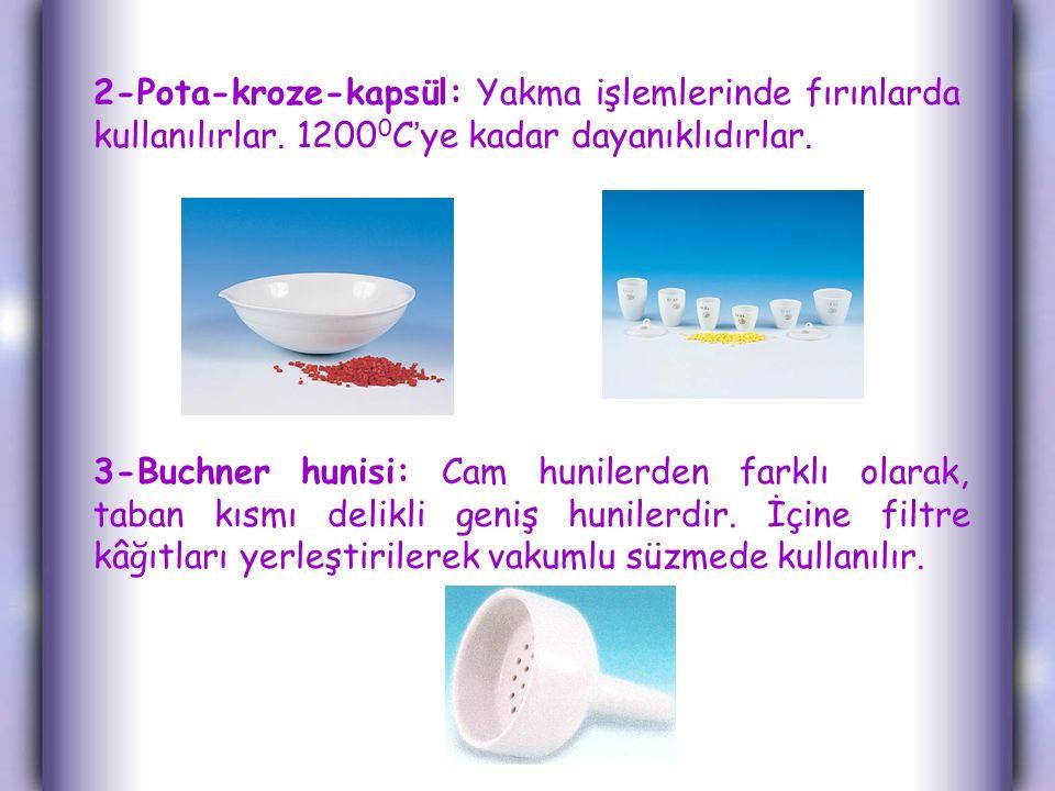 2-Pota-kroze-kapsül: Yakma işlemlerinde fırınlarda kullanılırlar