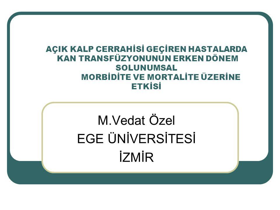 M.Vedat Özel EGE ÜNİVERSİTESİ İZMİR