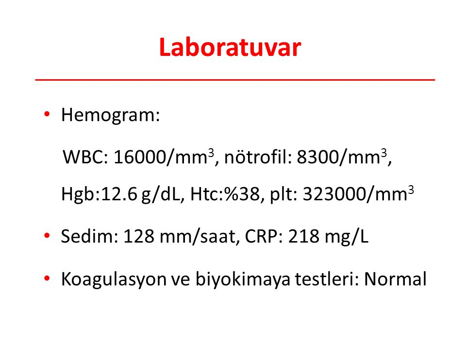 Laboratuvar Hemogram: