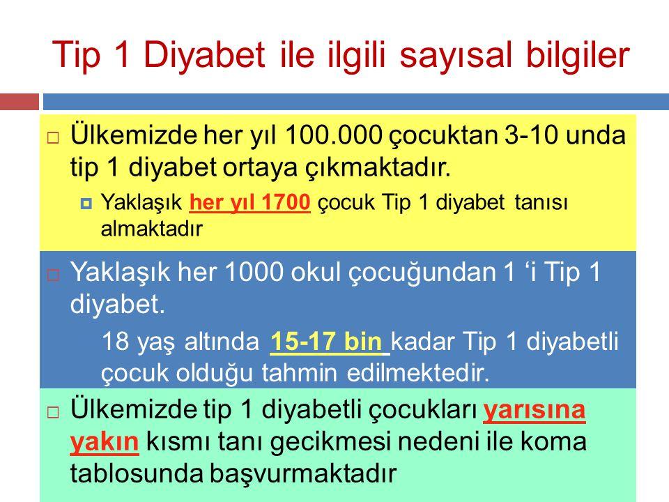 Tip 1 Diyabet ile ilgili sayısal bilgiler