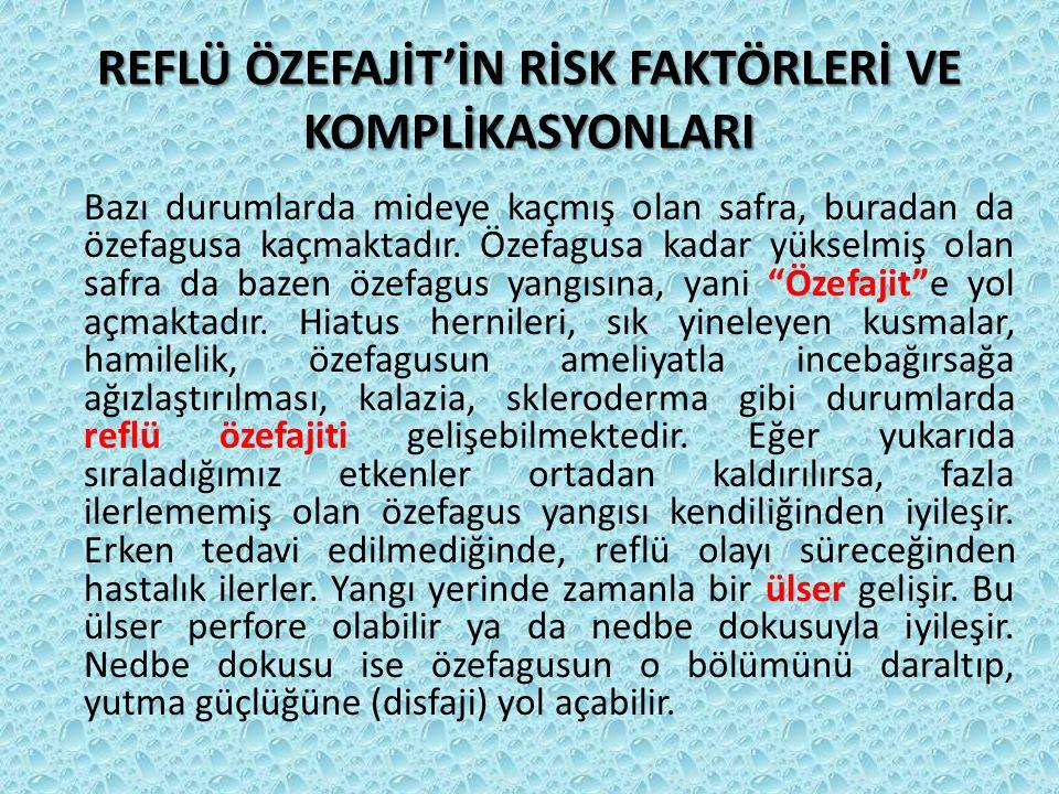 REFLÜ ÖZEFAJİT'İN RİSK FAKTÖRLERİ VE KOMPLİKASYONLARI