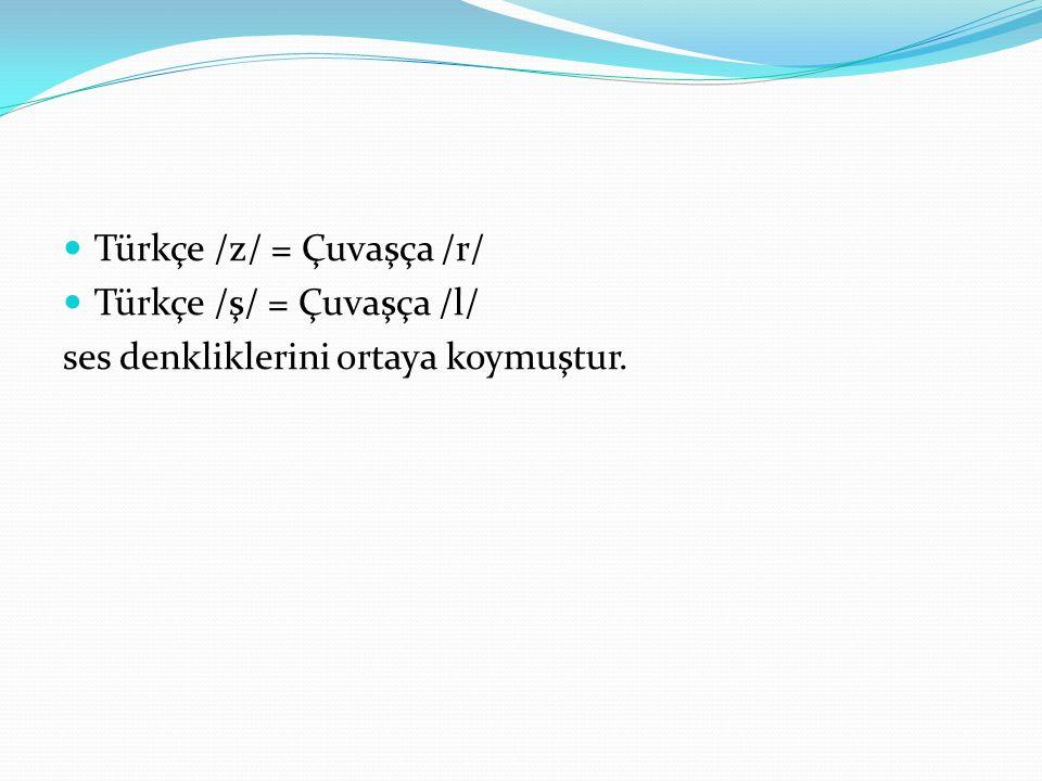 Türkçe /z/ = Çuvaşça /r/