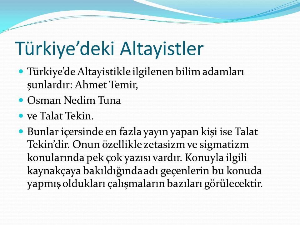 Türkiye'deki Altayistler