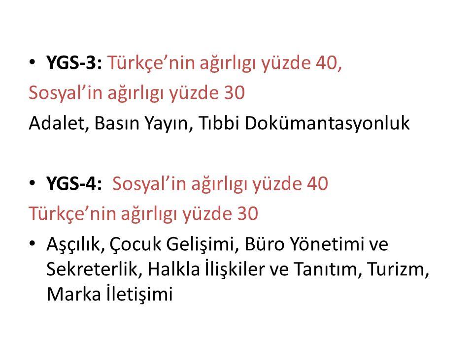 YGS-3: Türkçe'nin ağırlıgı yüzde 40,