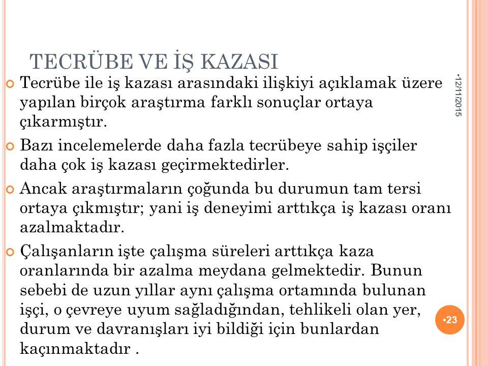 TECRÜBE VE İŞ KAZASI 4/25/2017.