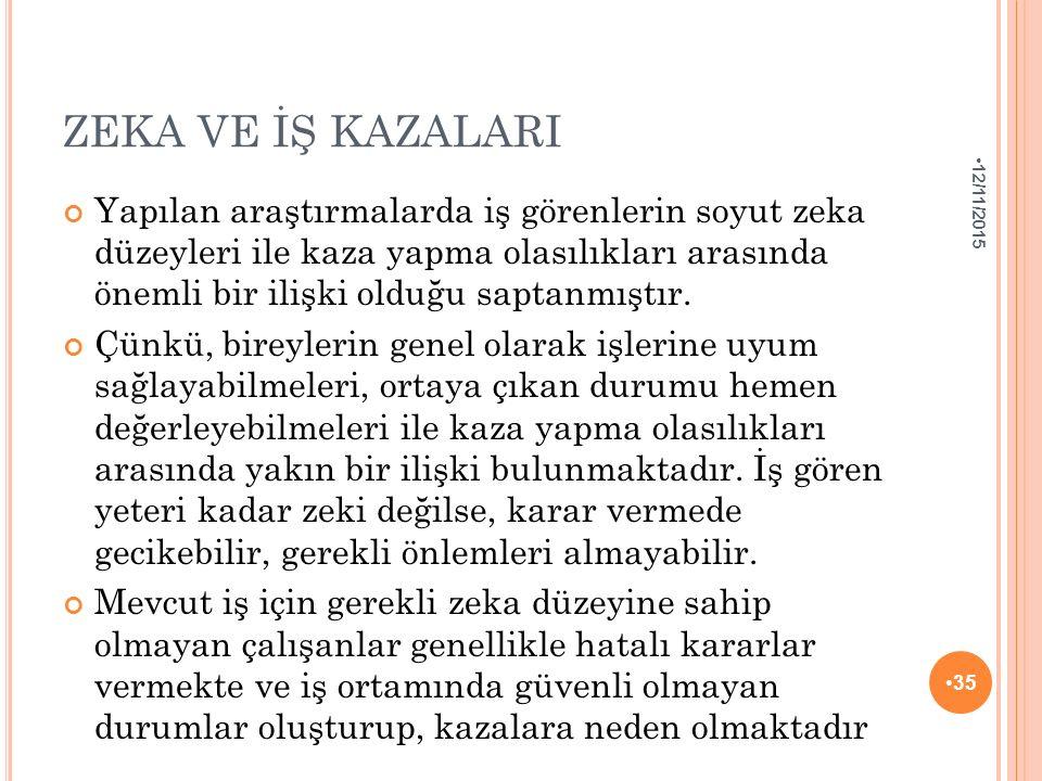 ZEKA VE İŞ KAZALARI 4/25/2017.