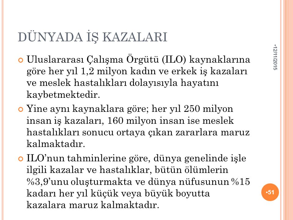 DÜNYADA İŞ KAZALARI 4/25/2017.