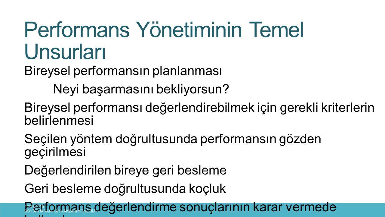 Performans Yönetiminin Temel Unsurları