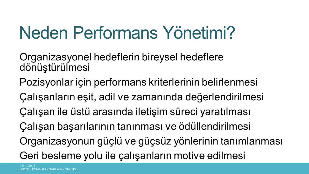 Neden Performans Yönetimi
