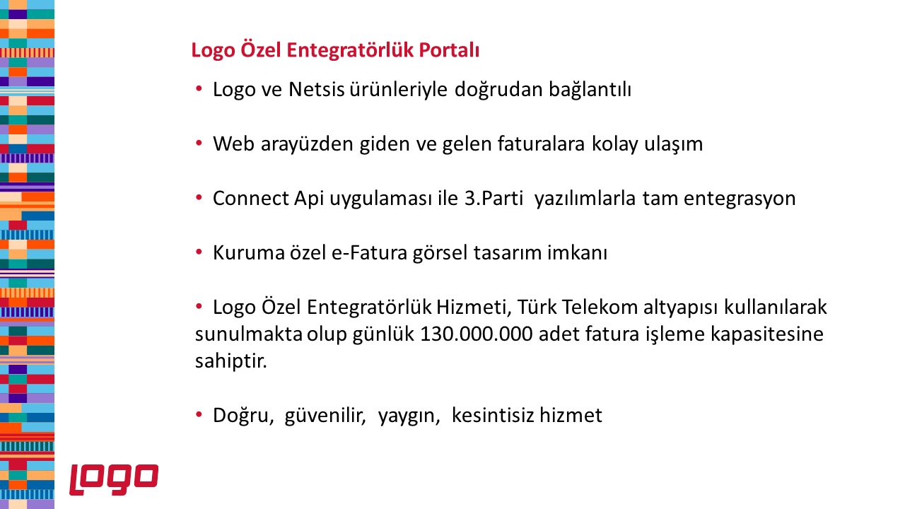 Logo Özel Entegratörlük Portalı