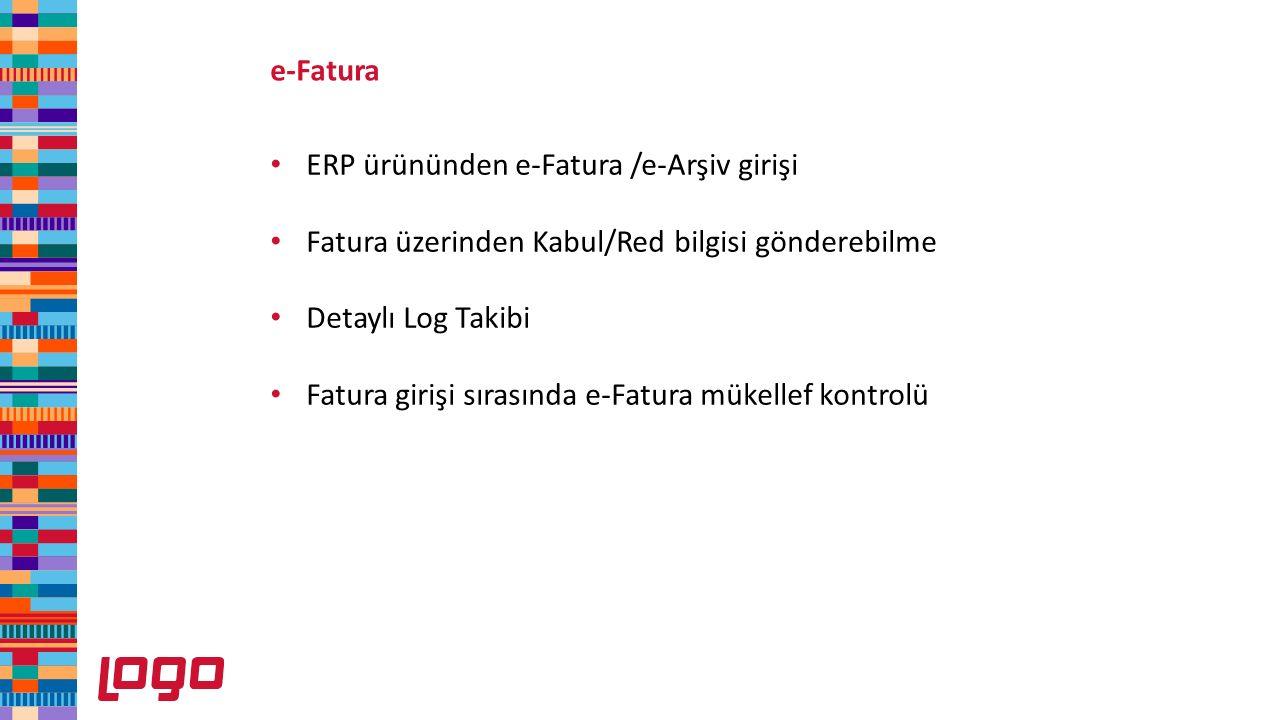 ERP ürününden e-Fatura /e-Arşiv girişi