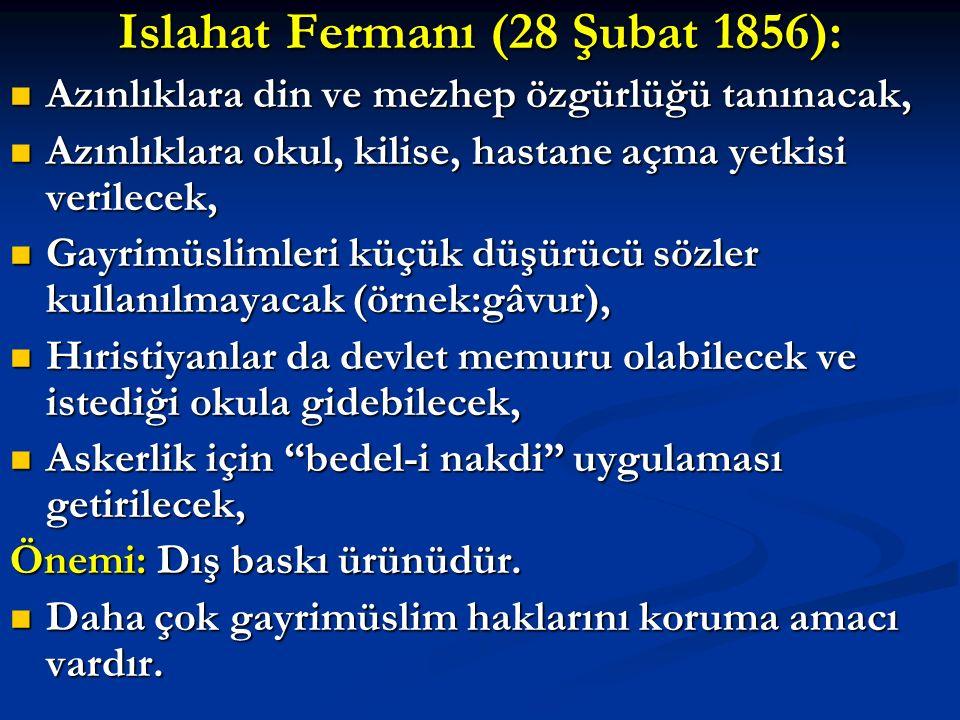 Islahat Fermanı (28 Şubat 1856):