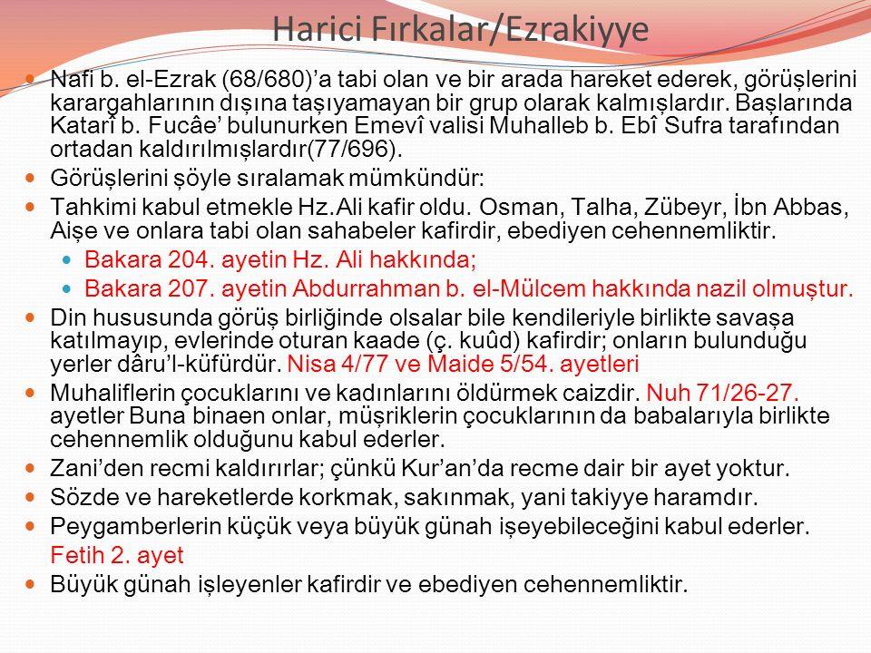 Harici Fırkalar/Ezrakiyye