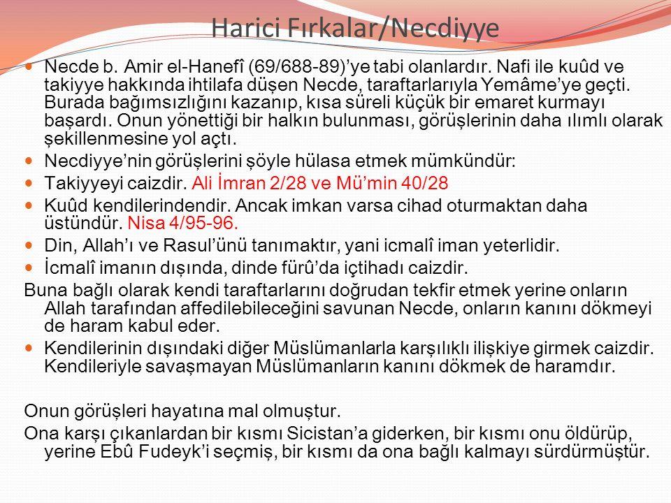 Harici Fırkalar/Necdiyye