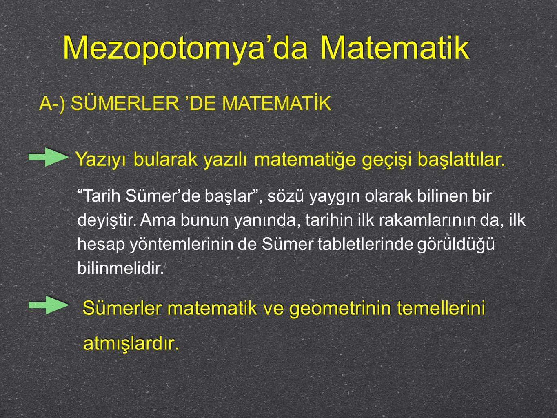 Mezopotomya'da Matematik