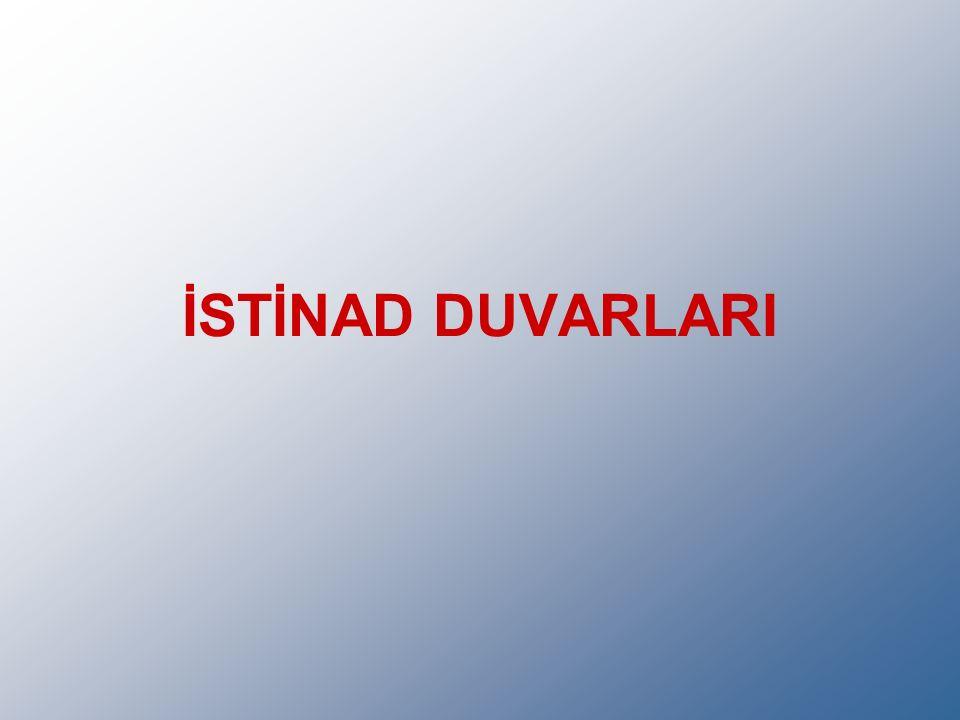 İSTİNAD DUVARLARI