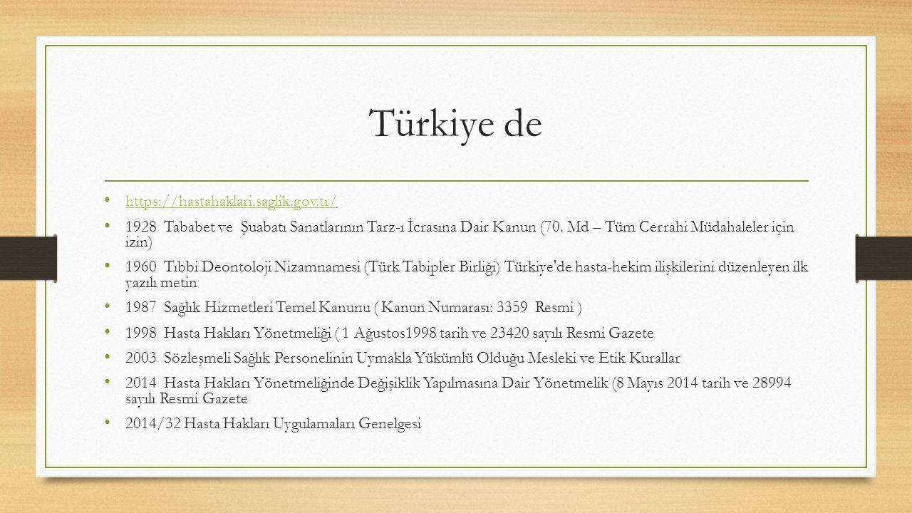 Türkiye de https://hastahaklari.saglik.gov.tr/