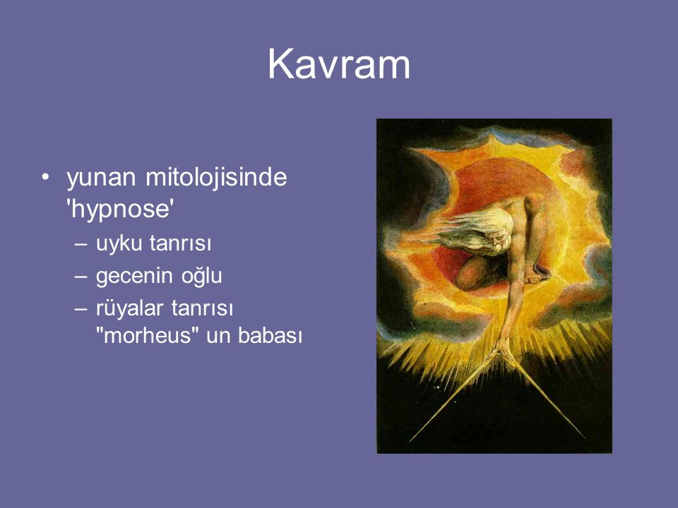 Kavram yunan mitolojisinde hypnose uyku tanrısı gecenin oğlu