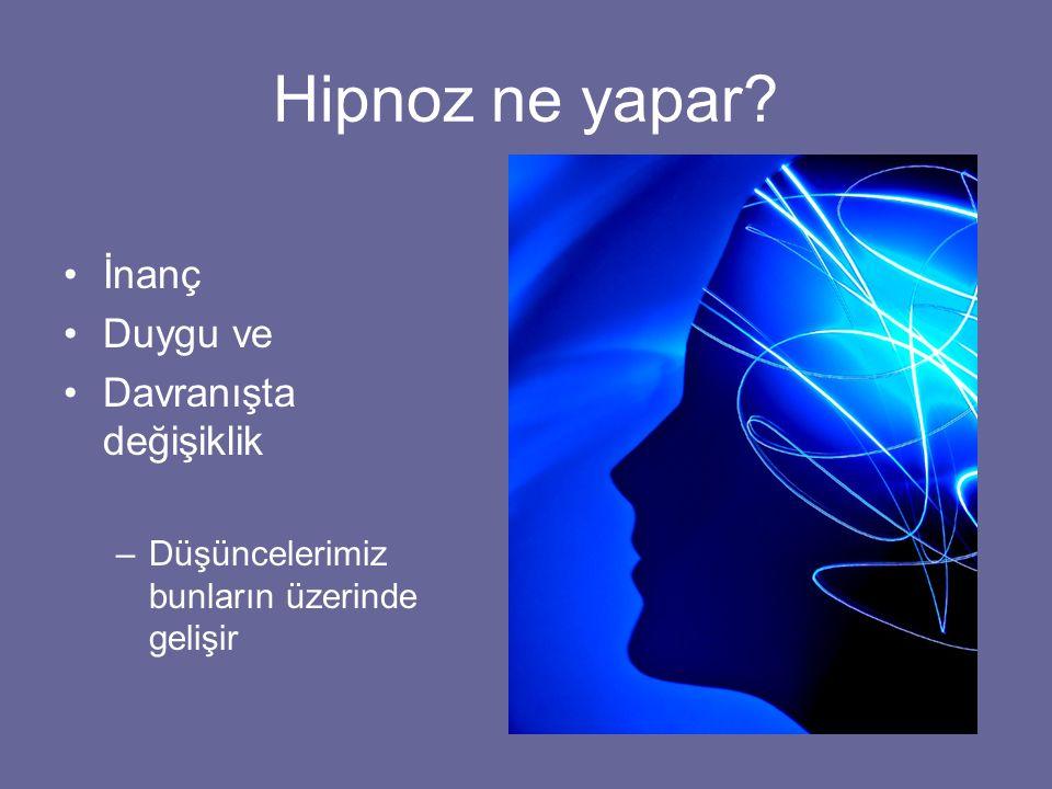 Hipnoz ne yapar İnanç Duygu ve Davranışta değişiklik