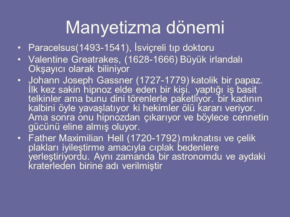 Manyetizma dönemi Paracelsus(1493-1541), İsviçreli tıp doktoru