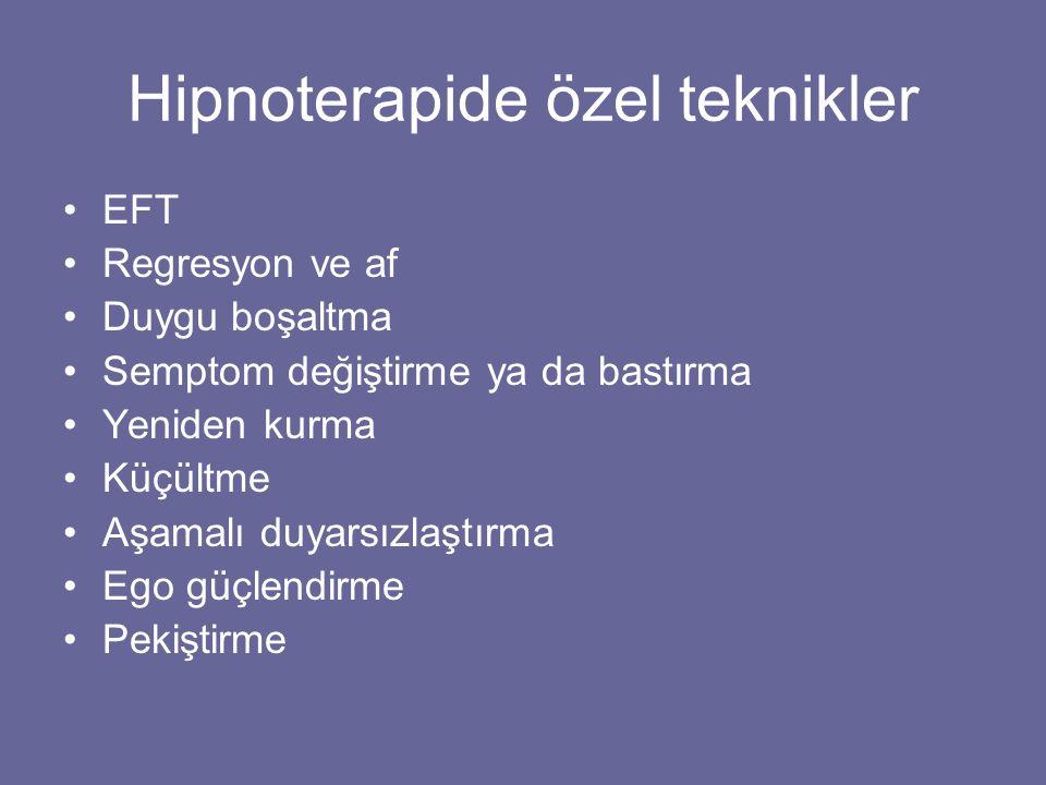Hipnoterapide özel teknikler