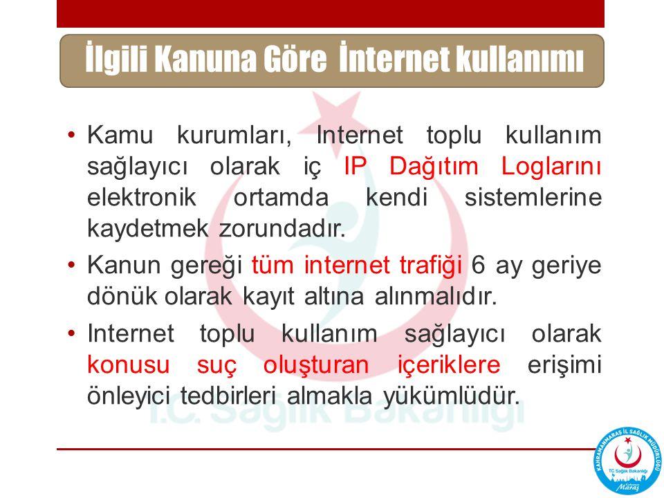 İlgili Kanuna Göre İnternet kullanımı