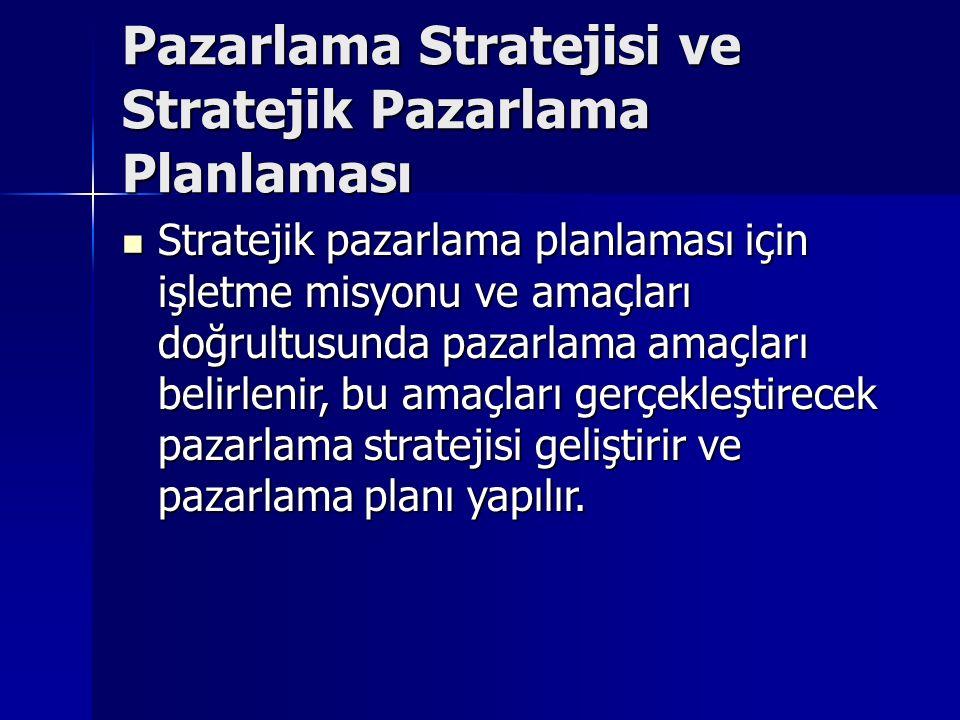 Pazarlama Stratejisi ve Stratejik Pazarlama Planlaması