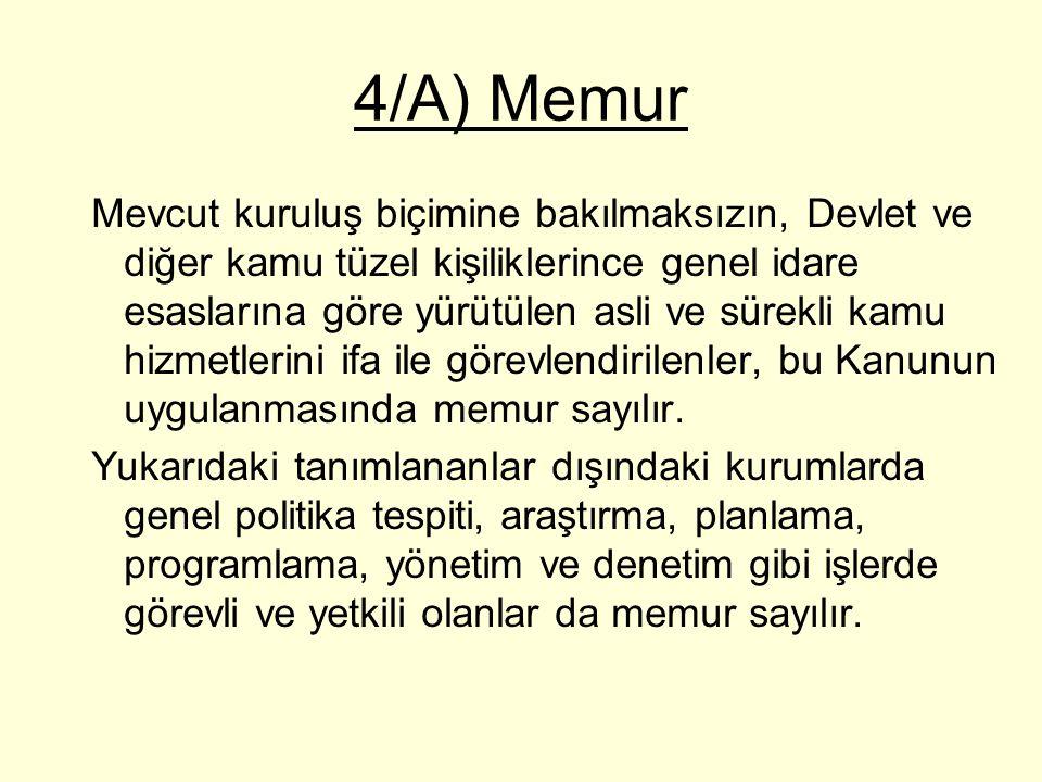 4/A) Memur