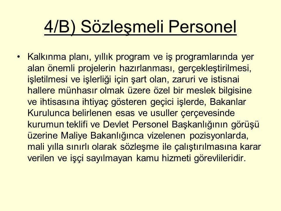 4/B) Sözleşmeli Personel