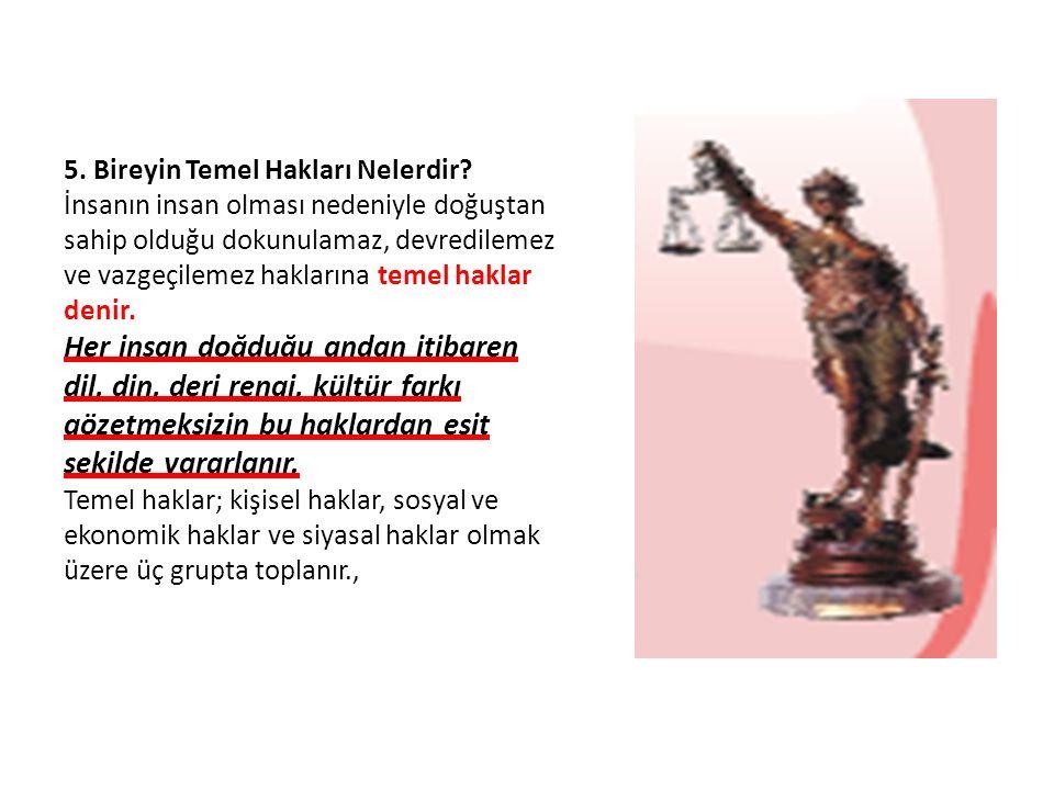 5. Bireyin Temel Hakları Nelerdir