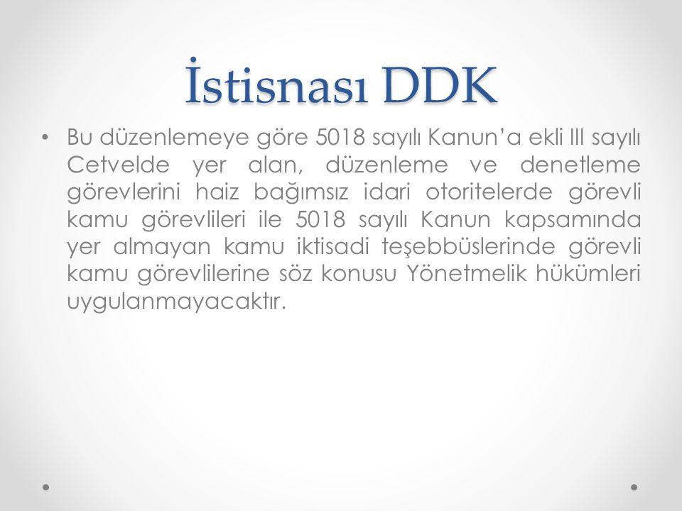 İstisnası DDK