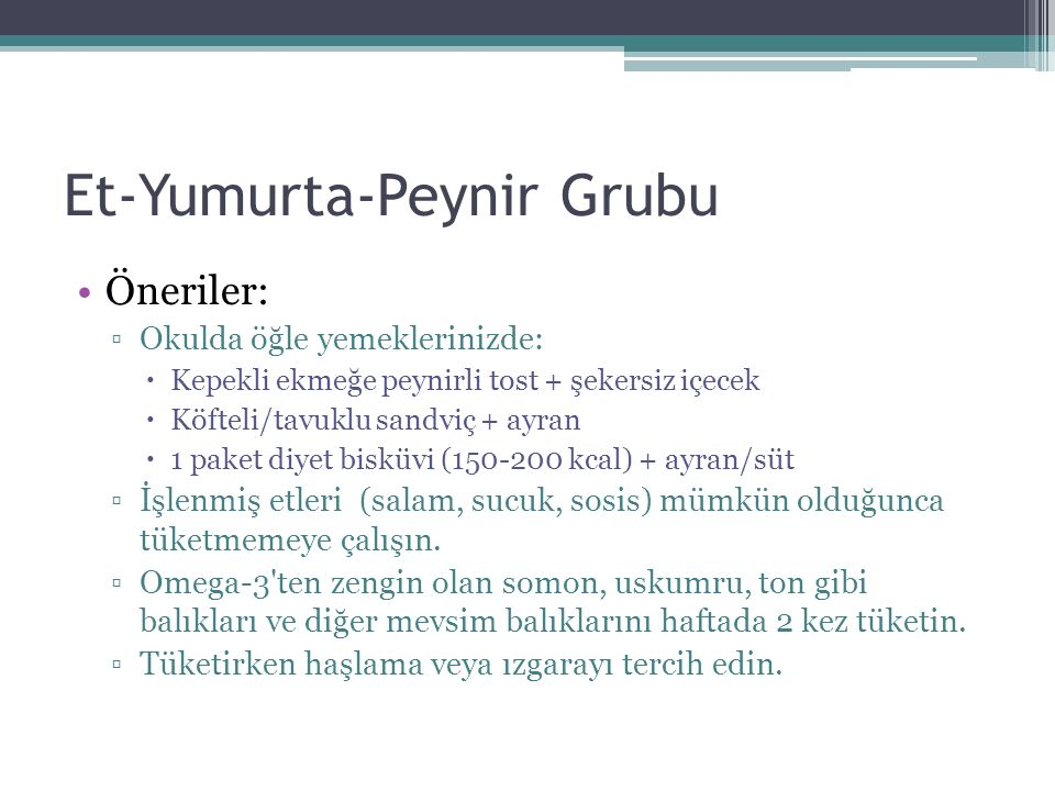 Et-Yumurta-Peynir Grubu