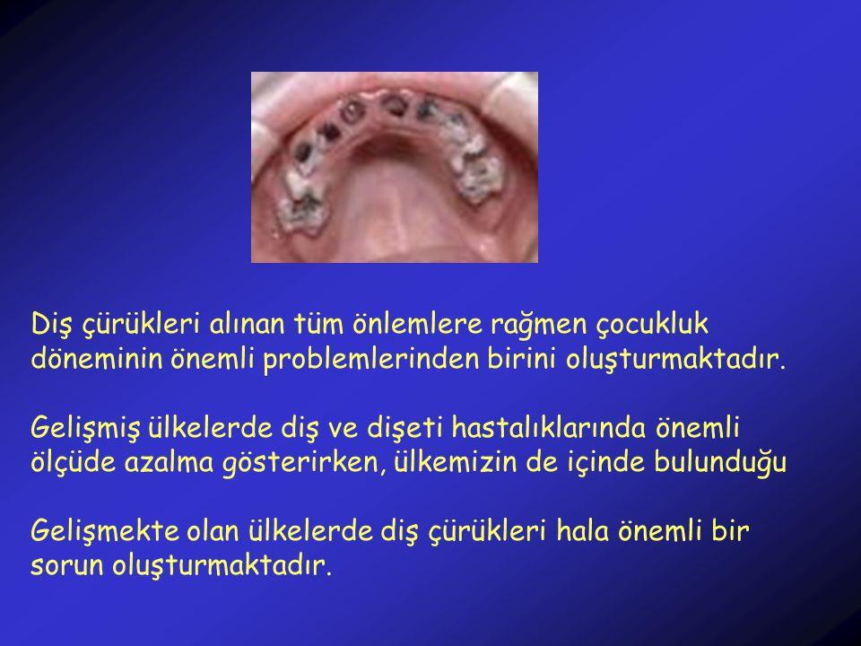 Diş çürükleri alınan tüm önlemlere rağmen çocukluk