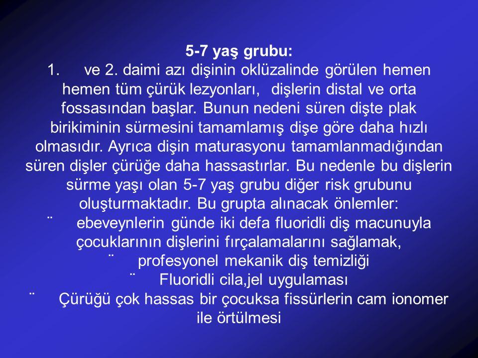 ¨ profesyonel mekanik diş temizliği ¨ Fluoridli cila,jel uygulaması